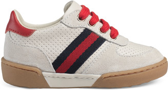 Toddler suede sneaker with Web $295 thestylecure.com
