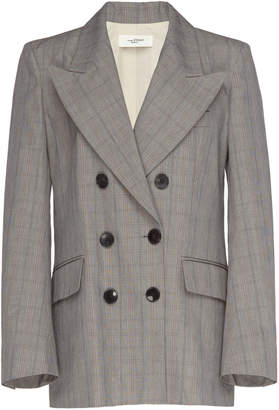 Etoile Isabel Marant Iliane Checked Cotton-Twill Blazer