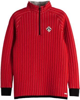 Scotch & Soda Quilted Half-Zip Cotton Blend Sweater