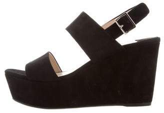 Prada Suede Ankle Strap Sandals