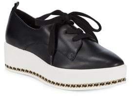 Karl Lagerfeld Paris Bali Leather Platform Oxfords