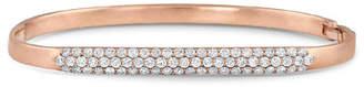 Dominique Cohen 18k Rose Gold Classic Diamond Hinged Huggie Bangle Bracelet