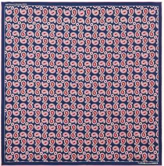 Turnbull & Asser Silk Paisley Pocket Square