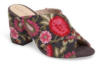Sole Society Luella Flower Embroidered Slide