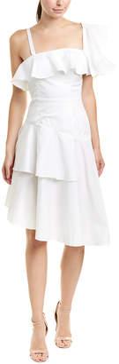KENDALL + KYLIE Flutter Midi Dress