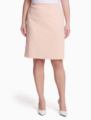 Calvin Klein plus size scuba straight skirt