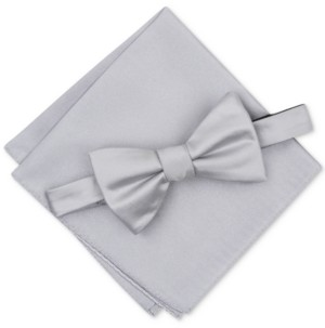 557fc20c5cfc Alfani Men's Solid Textured Pre-Tied Bow Tie & Solid Textured Pocket Square  Set,