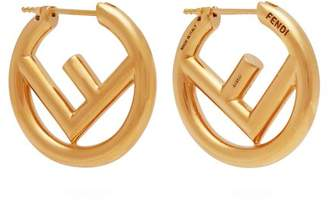 Fendi - Ff Hoop Earrings - Womens - Gold