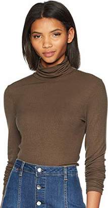 Michael Stars Women's 2x1 Rib Long Sleeve Turtleneck