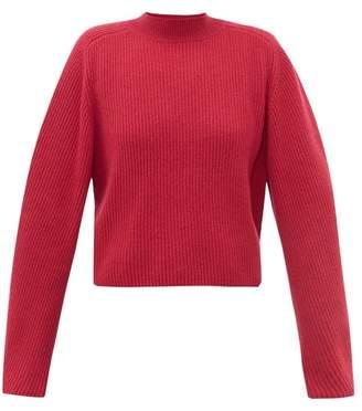 Chloé Ribbed Knit Wool Blend Sweater - Womens - Dark Pink
