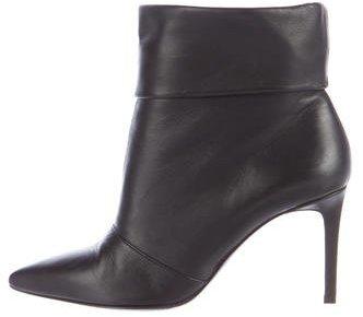 Saint LaurentSaint Laurent Leather Pointed-Toe Ankle Boots