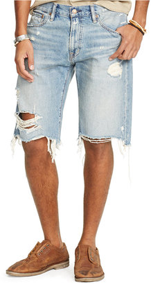 Denim & Supply Ralph Lauren Men's Straight-Fit Ripped Shorts $89.50 thestylecure.com