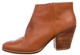 Rachel Comey Leather Round-Toe Ankle Boots