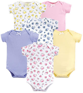 Baby Vision Luvable Friends Unisex Baby Bodysuits, Floral 6-Pack, 0-24 Months