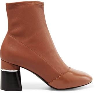 3.1 Phillip Lim Drum Leather Ankle Boots - Tan