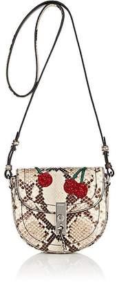 Women's Ghianda Python Mini Saddle Bag