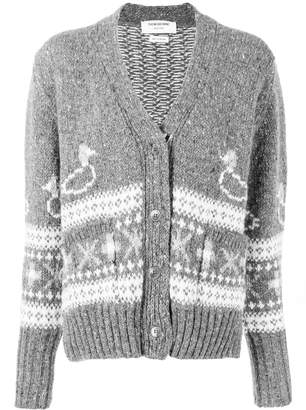 Thom Browne duck Fair Isle oversized cardigan