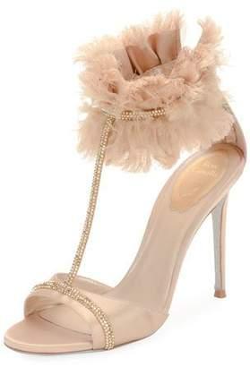 Rene Caovilla T-Strap Sandal with Ankle Cuff