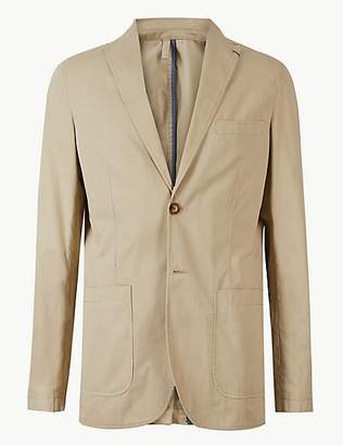 M&S Collection Pure Cotton Tailored Fit Jacket