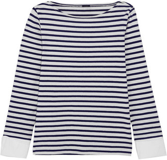 J.Crew - Striped Cotton Top - Navy $80 thestylecure.com