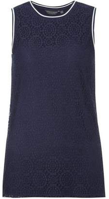 Dorothy Perkins Womens **Tall Navy Lace Trim Vest