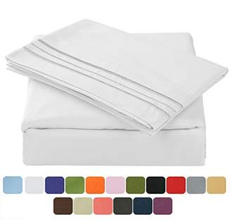 Tastelife 105 GSM Deep Pocket Bed Sheet Set Brushed Hypoallergenic Microfiber 1800 Bedding Sheets Wrinkle