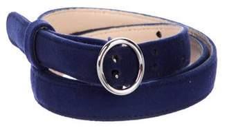 Prada Suede Skinny Belt
