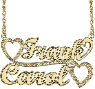 JCPenney FINE JEWELRY Personalized 14K Gold Over Sterling Silver Couple Names Pendant Necklace