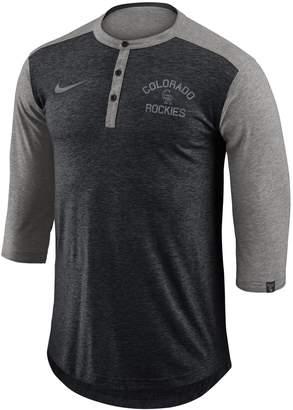 Nike Men's Colorado Rockies Flux Henley