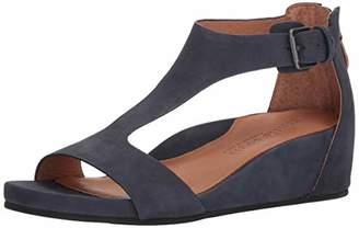Gentle Souls Women's Gisele Low Wedge T-Strap Sandal Sandal