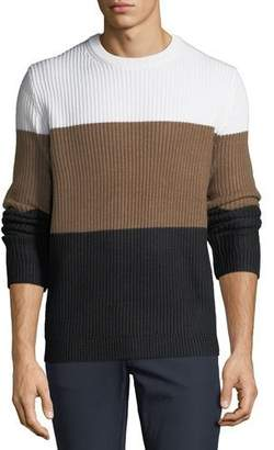 Theory Men's Colorblock Wool Sweater
