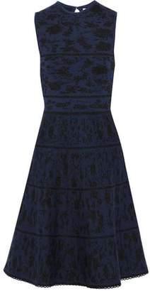 Carolina Herrera Metallic Wool-blend Jacquard Dress