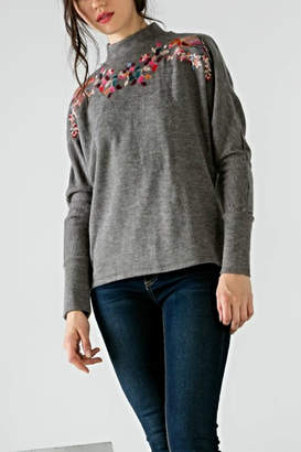 THML Clothing Embroidered Birdie Sweater