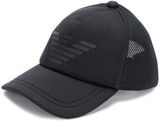Emporio Armani eagle logo baseball cap