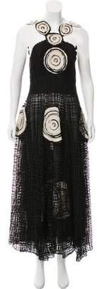 Fendi Embellished Maxi Dress