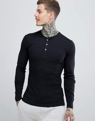 cf92f4262ed6c at ASOS · Levi s Levis Henley Long Sleeve T-Shirt in Black