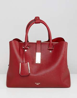 Dune Diella Red Tote Bag With Detachable Strap