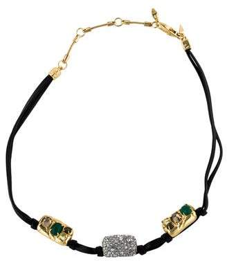 Alexis Bittar Crystal & Leather Choker