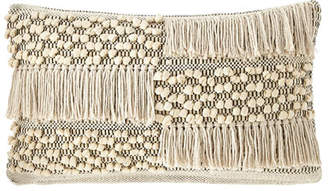 "Pom Pom at Home Zahra Hand-Woven Pillow, 14"" 24"""