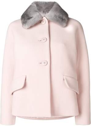 Miu Miu fur collar coat
