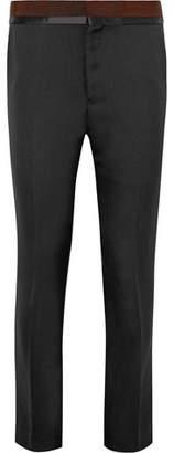 Haider Ackermann Grosgrain And Satin-Trimmed Wool Trousers