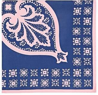 Fairfax Men's Floral Medallion Silk Twill Pocket Square