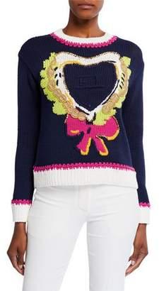 Escada Embroidered Heart Sweater