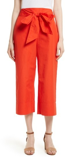 Women's Kate Spade New York Tie Front Culottes