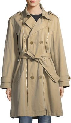 Tre by Natalie Ratabesi Double-Breasted Gabardine Trenchcoat
