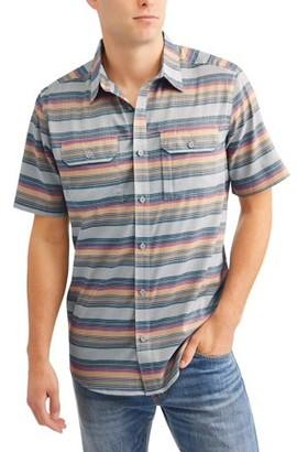 Swiss+Tech Men's Short Sleeve Outdoor Woven Shirt