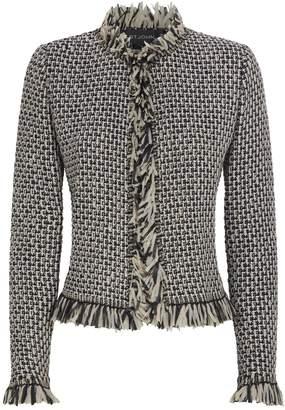 St. John Knitted Fringe Jacket