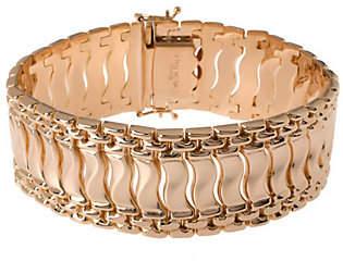"""Bronzo Italia 8"""" Polished Fancy Link Bracelet"""