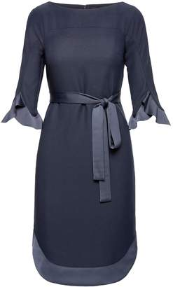 Banana Republic Flounce Sleeve Tie-Waist Dress
