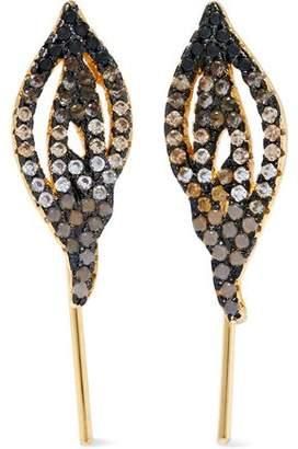 Noir Jewelry Noir Jewelry Woman Ants Marching Gold-tone Crystal Earrings Gold Size xQRr94
